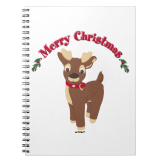 Merry Christmas Reindeer Notebook