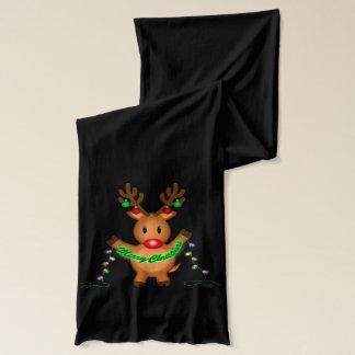Merry Christmas Reindeer Scarf
