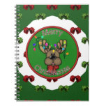 Merry Christmas Reindeer Spiral Note Books