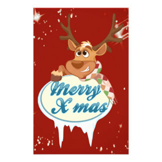 Merry Christmas Reindeer Stationery
