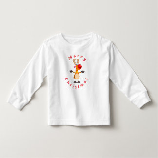 Merry Christmas Reindeer Toddler T-shirt