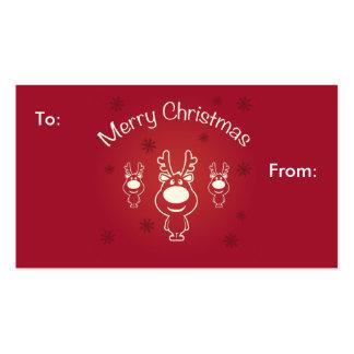 Merry Christmas Reindeers Gift Card