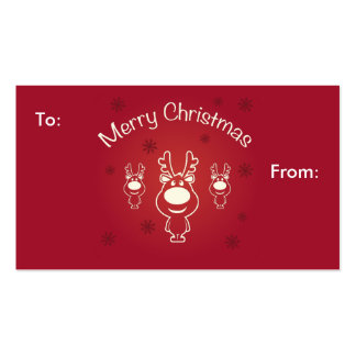 Merry Christmas Reindeers Gift Card Business Card