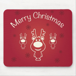 Merry Christmas Reindeers Mouse Pad