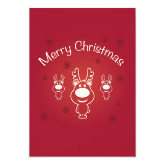 Merry Christmas Reindeers Party Invitation