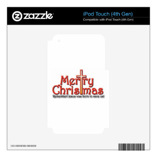 Merry Christmas! Remember! iPod Touch 4G Decals