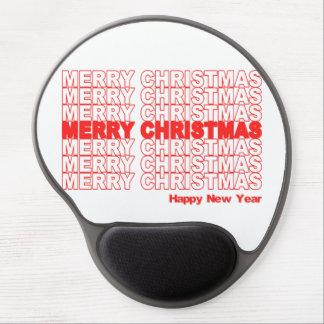 Merry Christmas Retro Holiday Gel Mousepads