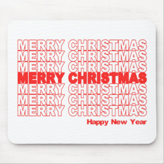 Merry Christmas Retro Holiday Mouse Pad