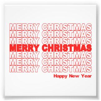 Merry Christmas Retro Holiday Photographic Print