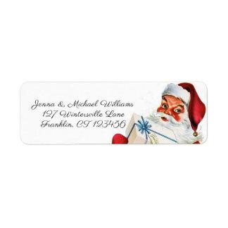 Merry Christmas | Retro Santa Claus Label