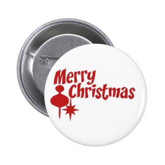 Merry Christmas Retro Style Pins