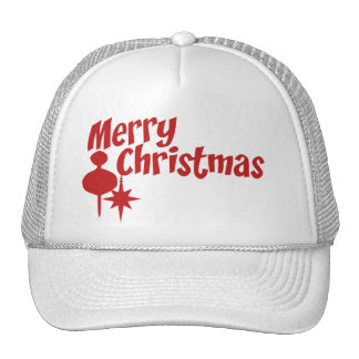 Merry Christmas Retro Style Trucker Hat