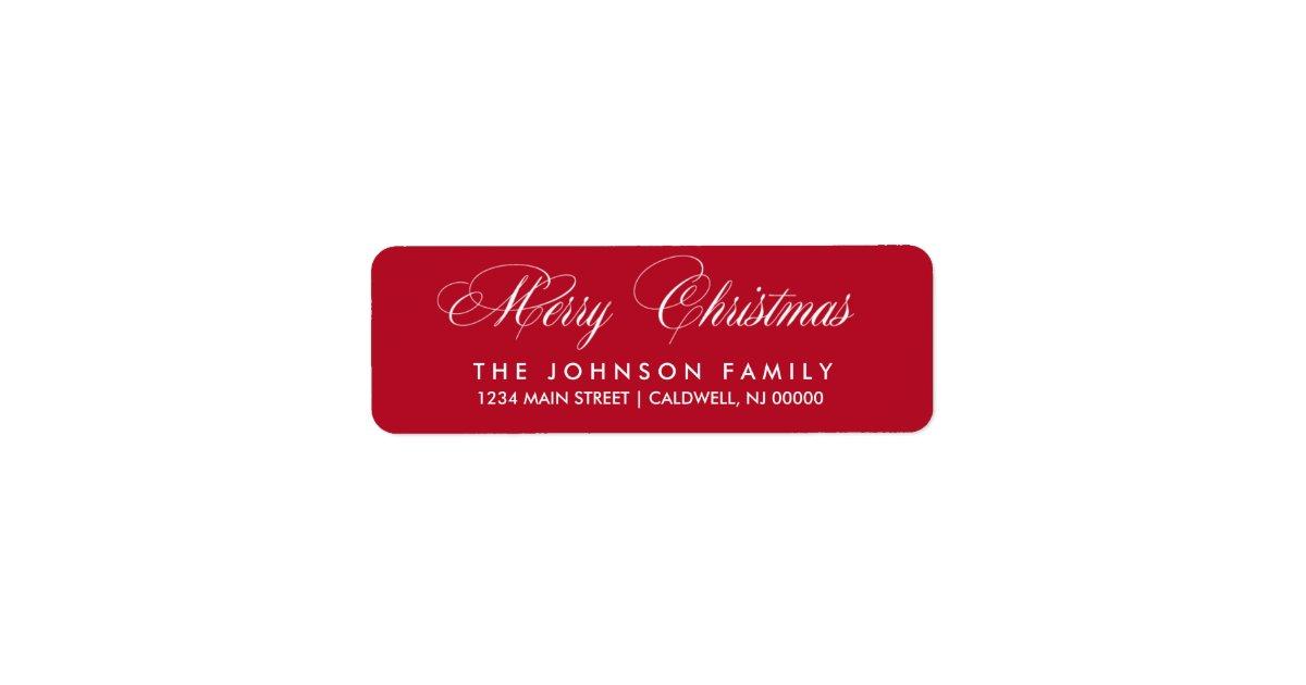Christmas Return Address Labels.Merry Christmas Return Address Labels Mimoprints