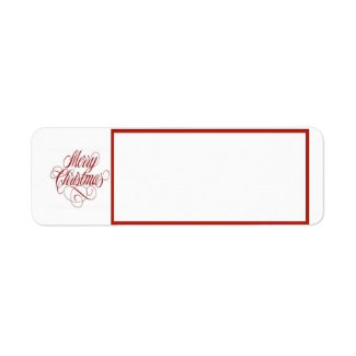 Merry Christmas! Return Address Mailing Label label