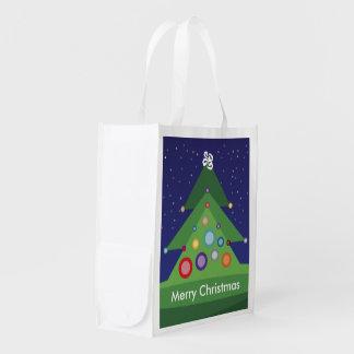 Merry Christmas Reusable Bag Reusable Grocery Bags