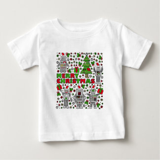 Merry Christmas Robot Baby T-Shirt