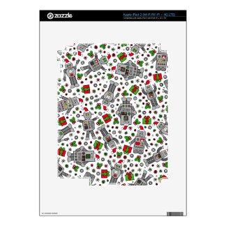 Merry Christmas Robots iPad 3 Decals