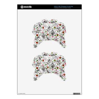 Merry Christmas Robots Xbox 360 Controller Decal