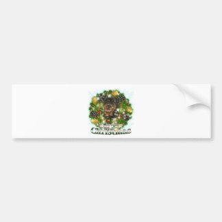 Merry Christmas Rottweiler Bumper Stickers