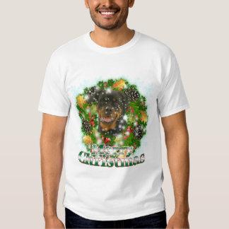 Merry Christmas Rottweiler Shirt