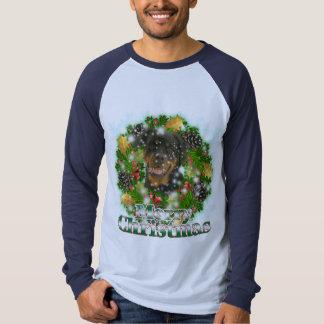 Merry Christmas Rottweiler Tee Shirt