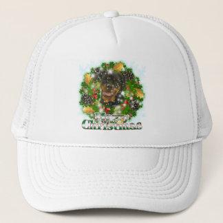 Merry Christmas Rottweiler Trucker Hat