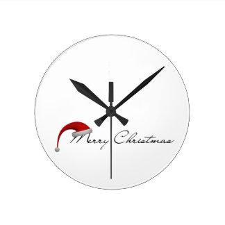 Merry Christmas! Round Clock