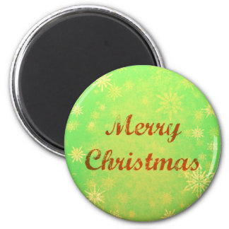 Merry Christmas Round Magnet