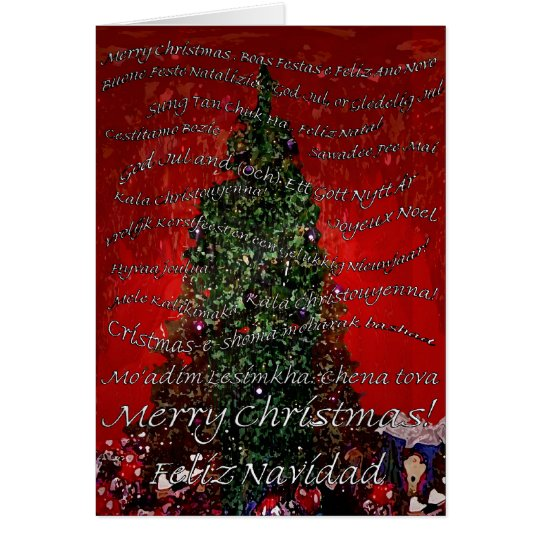 Merry Christmas Round the World Card