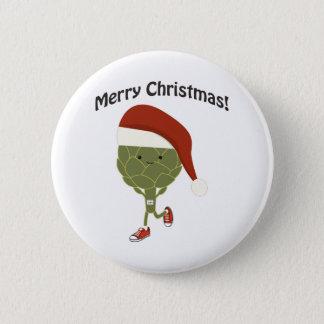 Merry Christmas! Running Artichoke Button