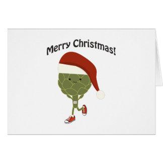 Merry Christmas! Running Artichoke Card