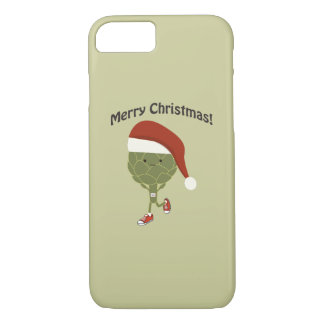 Merry Christmas! Running Artichoke iPhone 8/7 Case