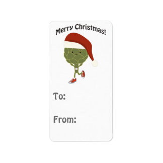 Merry Christmas! Running Artichoke Label