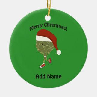 Merry Christmas! Running Artichoke Christmas Ornament