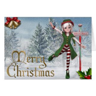 Merry Christmas Sadie Elf Card
