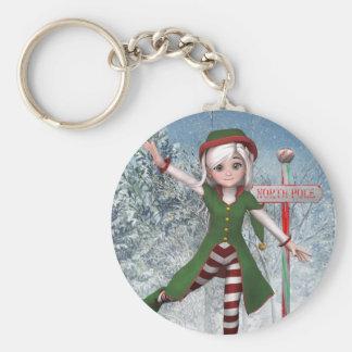 Merry Christmas Sadie Elf Keychain