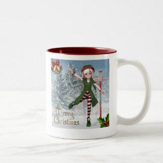 Merry Christmas Sadie Elf Mug