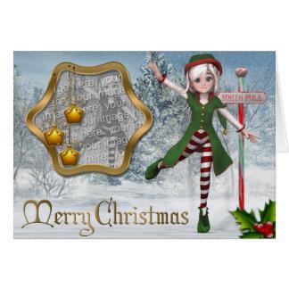 Merry Christmas Sadie Elf Template Card