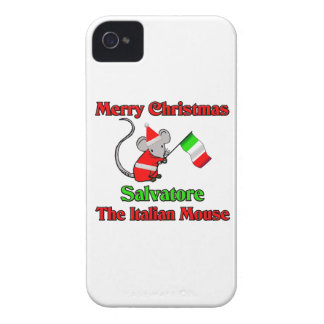 Merry Christmas Salvatore The Italian Mouse Case-Mate iPhone 4 Case