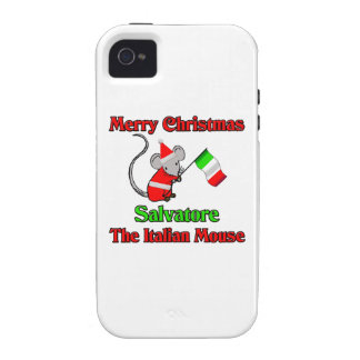 Merry Christmas Salvatore The Italian Mouse Vibe iPhone 4 Cover