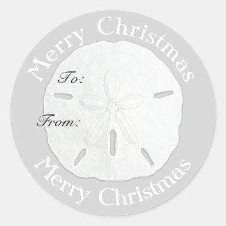 Merry Christmas Sand Dollar Gift Tag