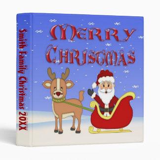 "Merry Christmas Santa 1"" Binder"