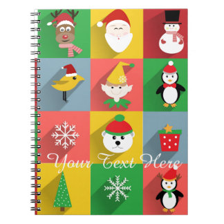 Merry Christmas, Santa and Helpers Spiral Notebook