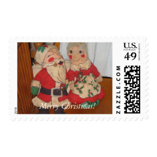 Merry Christmas Santa and Mrs. Claus Stamps