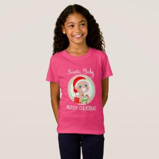 Merry Christmas Santa Baby Cute Fun Graphic T-Shirt