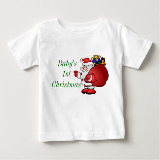 Merry Christmas Santa Baby's 1st Baby T-Shirt