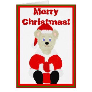 Merry Christmas Santa Bear Card