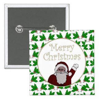 Merry Christmas Santa Button