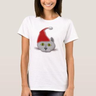 """""""MERRY CHRISTMAS"""" SANTA CAT T-Shirt"""