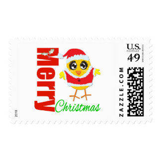 Merry Christmas Santa Chick Stamps